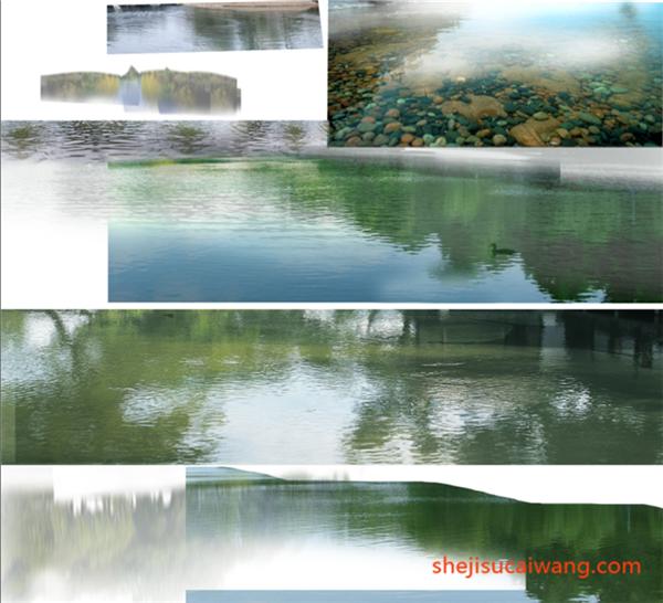 水面PSD分层素材