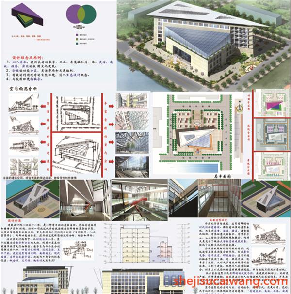 高校建筑系馆毕业设计