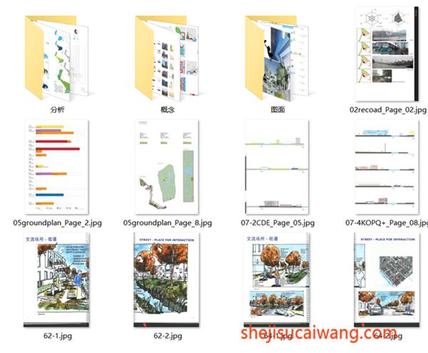 特色分析图纸(分析,概念,图面)