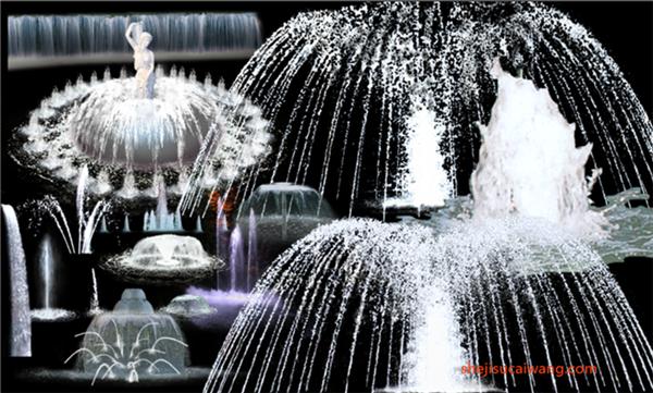 喷泉PSD分层素材