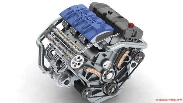 khelifaoui V6 Turbo发动机图纸