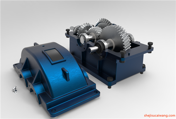 变速箱减速器蜗轮蜗杆三维图纸9