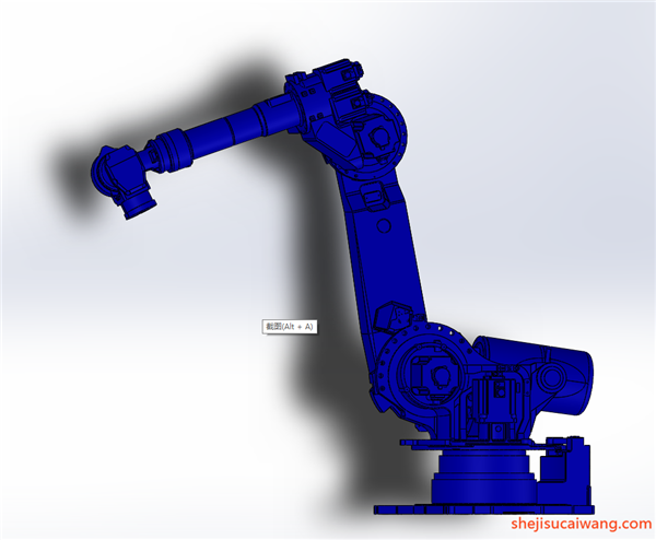 工业机器人机械臂机械手Solidworks模型4