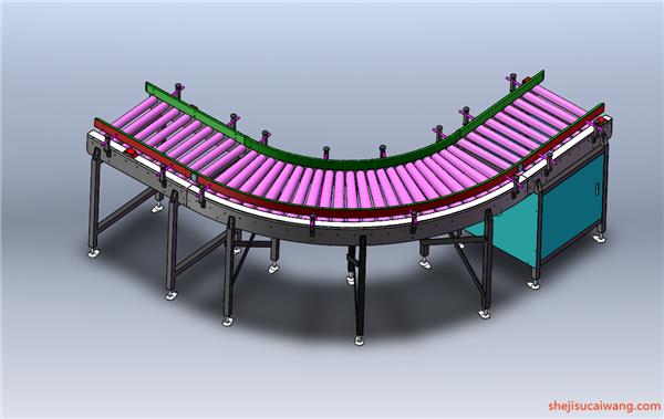 链板倍速链Solidwowrks模型4