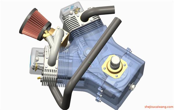 发动机变速器Solidworks模型8