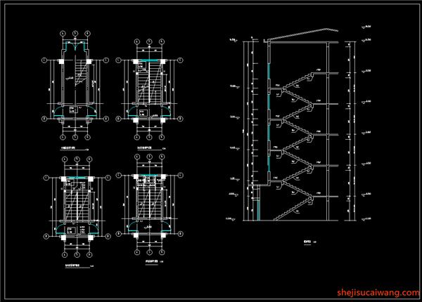 结构楼梯平面图、楼梯详图