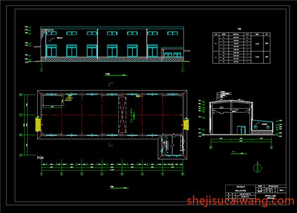 钢结构厂房建筑图