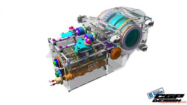 变速箱减速器蜗轮蜗杆三维图纸1