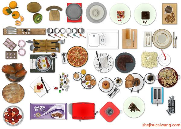 厨房设施PSD图块