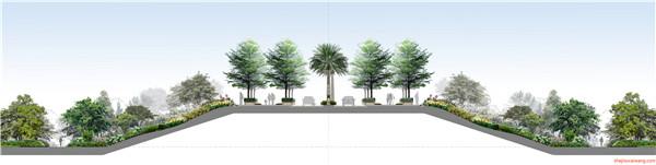 部分奥雅景观彩平图设计详情7