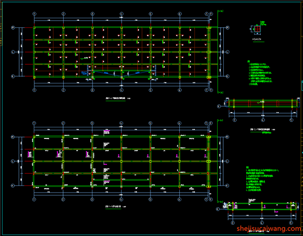 屋面梁、板平法施工图