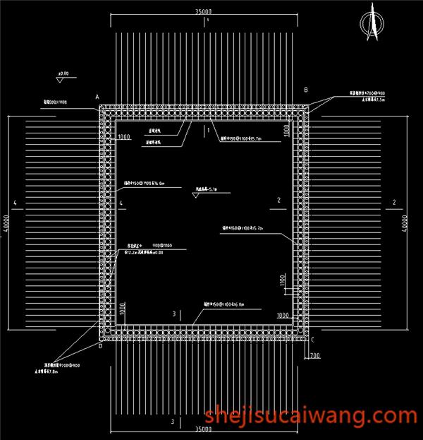 基坑支护平面图