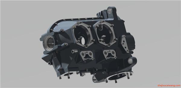 发动机变速器Solidworks模型6