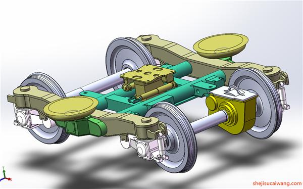 发动机变速器Solidworks模型1