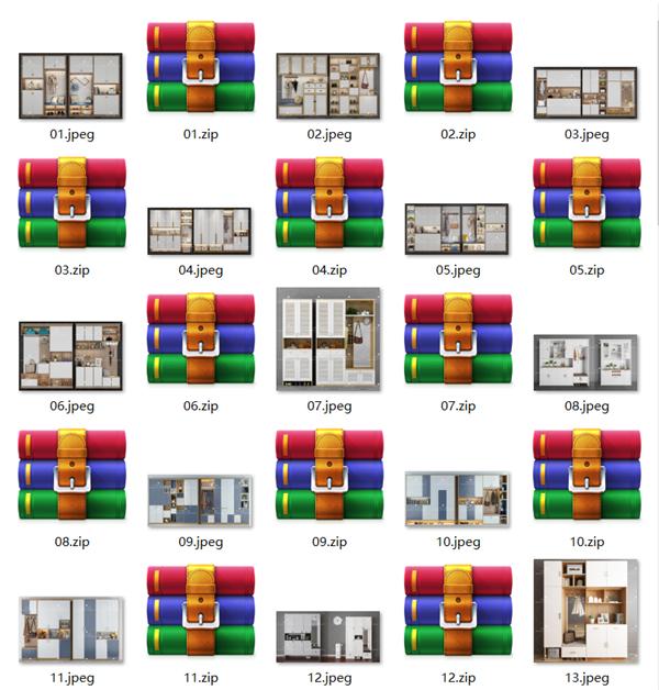北欧现代欧式鞋柜玄关柜3Dmax模型目录1