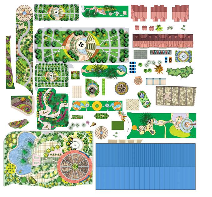 园林平面PSD素材