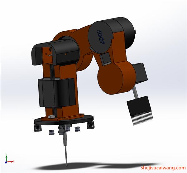 工业机器人机械臂机械手Solidworks模型6