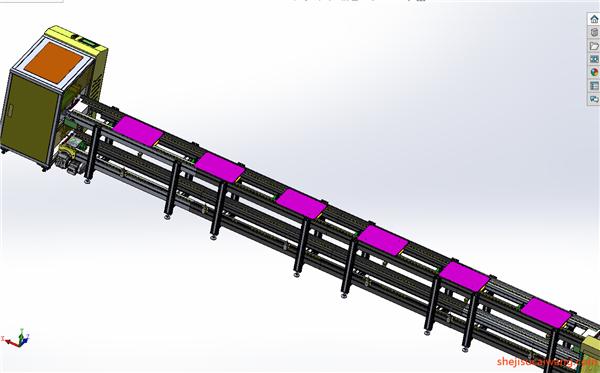 链板倍速链Solidwowrks模型10