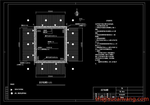 基坑平面监测图