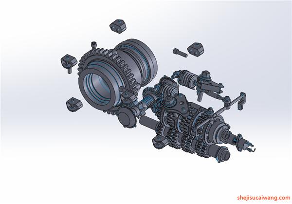 变速箱减速器蜗轮蜗杆三维图纸2