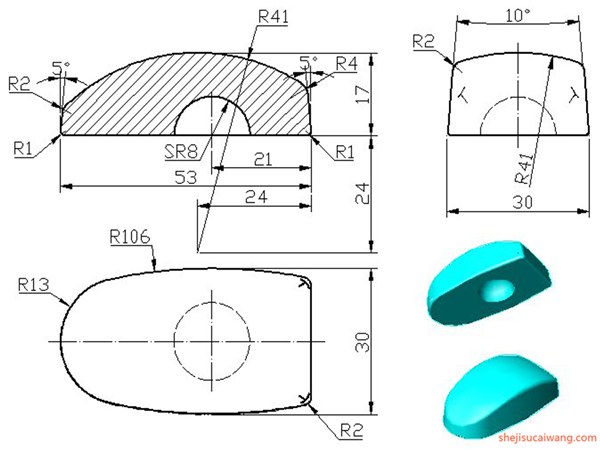 三维建模练习图110例3
