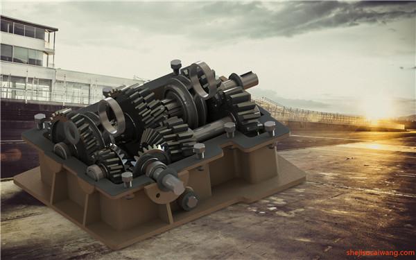 变速箱减速器蜗轮蜗杆三维图纸4