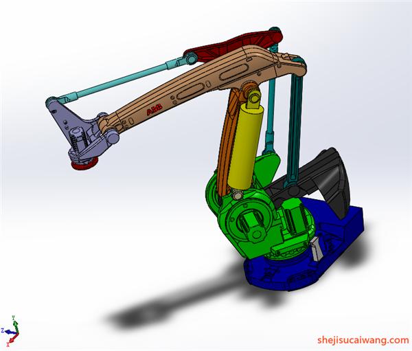 工业机器人机械臂机械手Solidworks模型1
