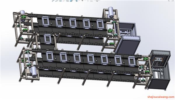 输送机Solidworks模型2