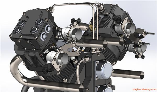 发动机变速器Solidworks模型5