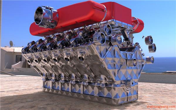 发动机变速器Solidworks模型3