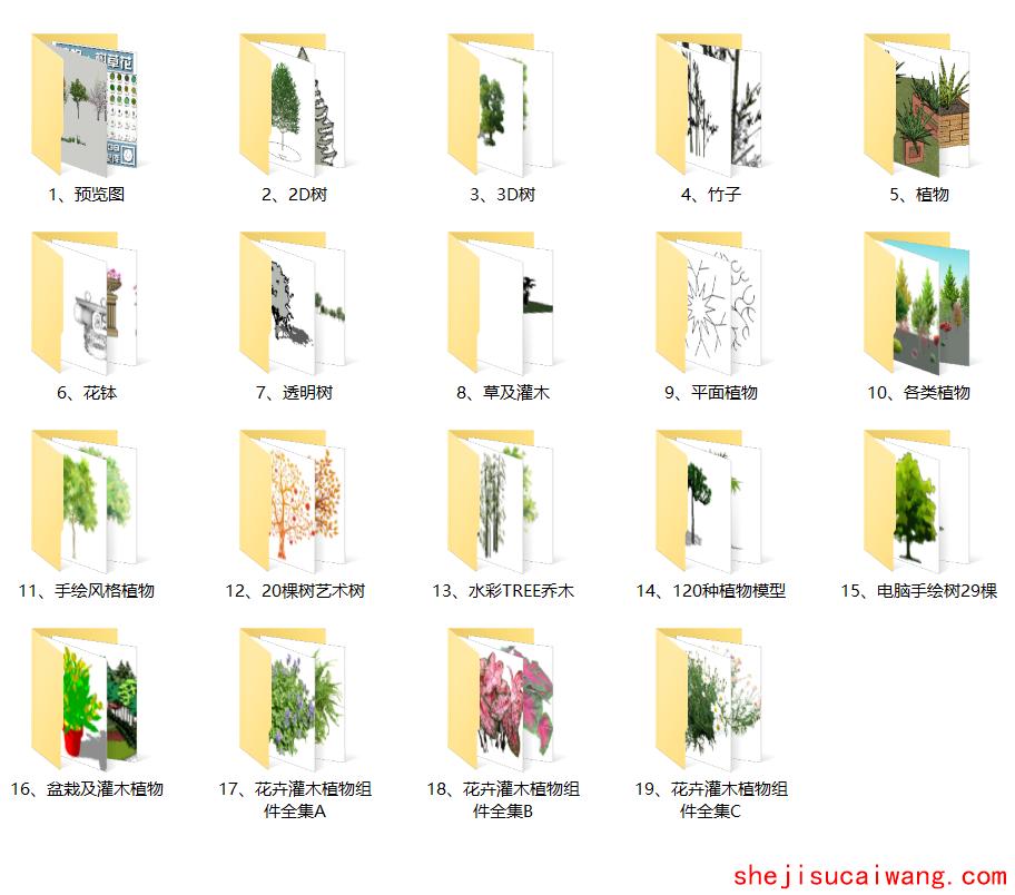 景观植物SU模型目录
