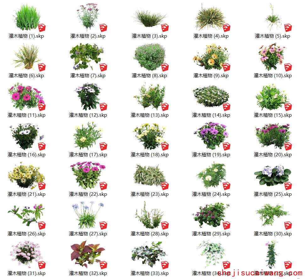 花卉灌木植物组件全集A