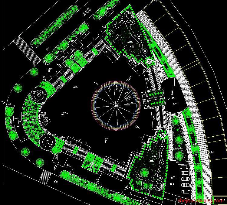 公园广场景观CAD总平面图2
