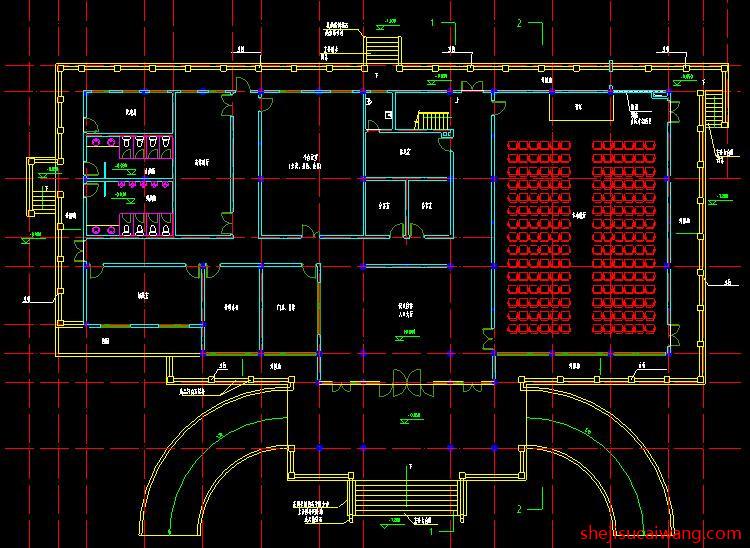 博物馆展览馆纪念馆CAD1