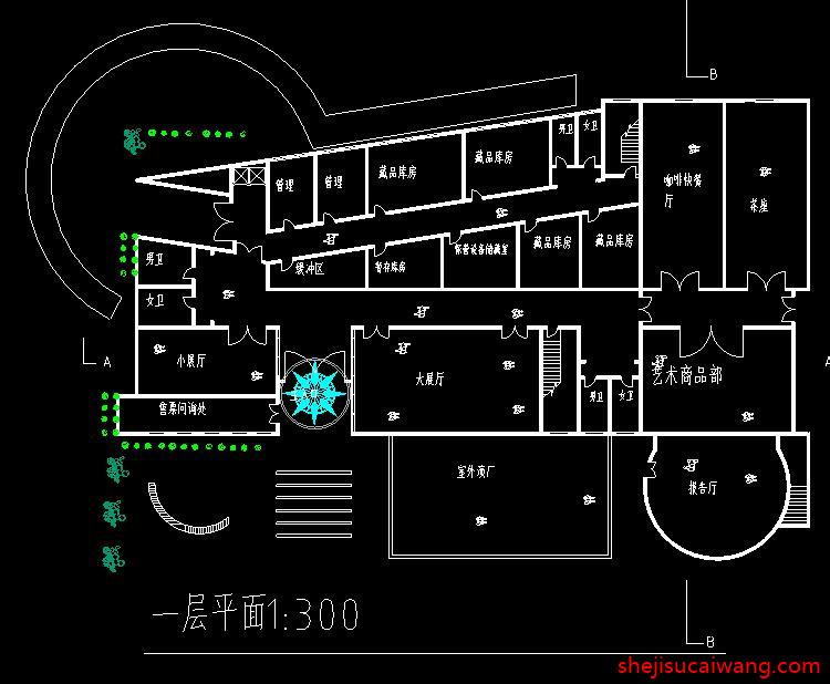 博物馆展览馆纪念馆CAD4