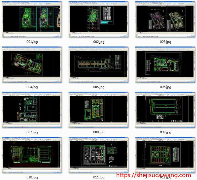 厂房工业园产业园规划CAD1