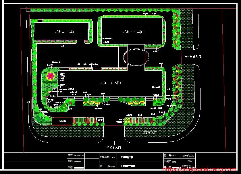 厂房工业园产业园规划CAD3