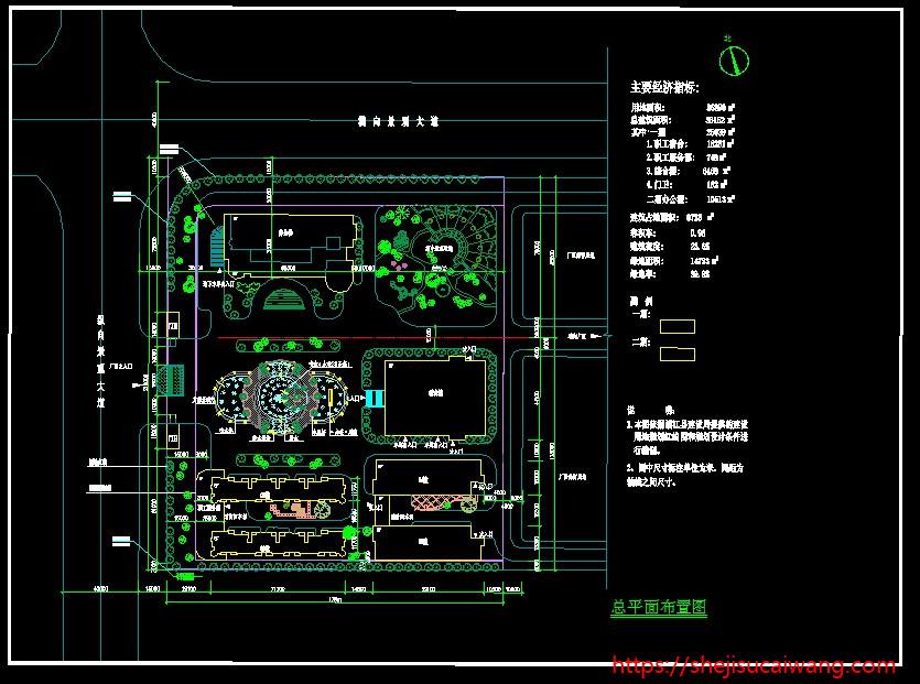 厂房工业园产业园规划CAD4