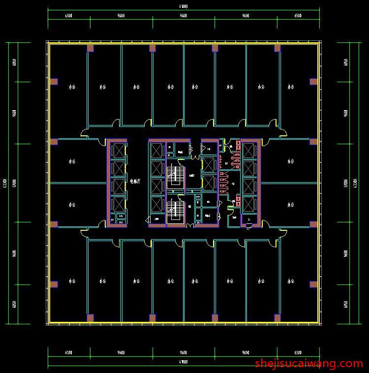 商务办公楼写字楼CAD1
