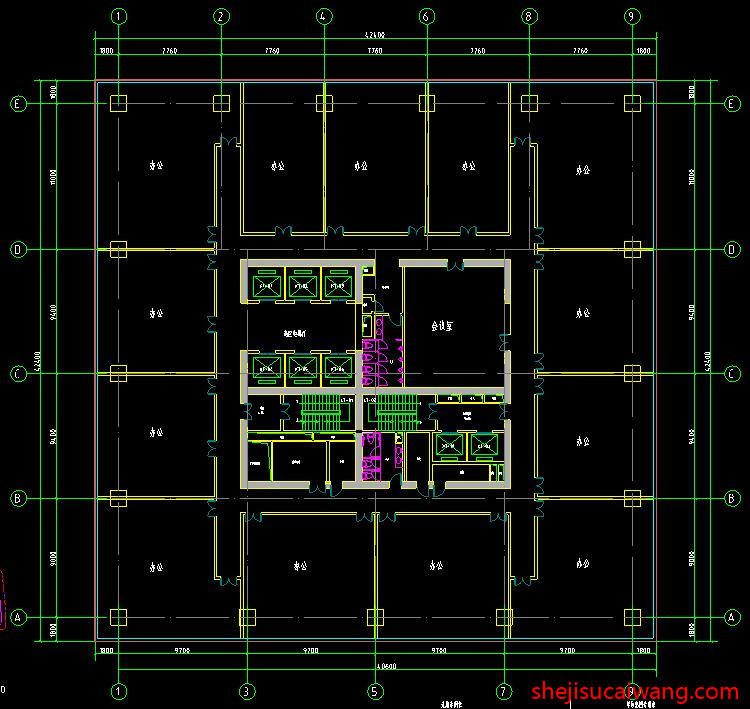 商务办公楼写字楼CAD2