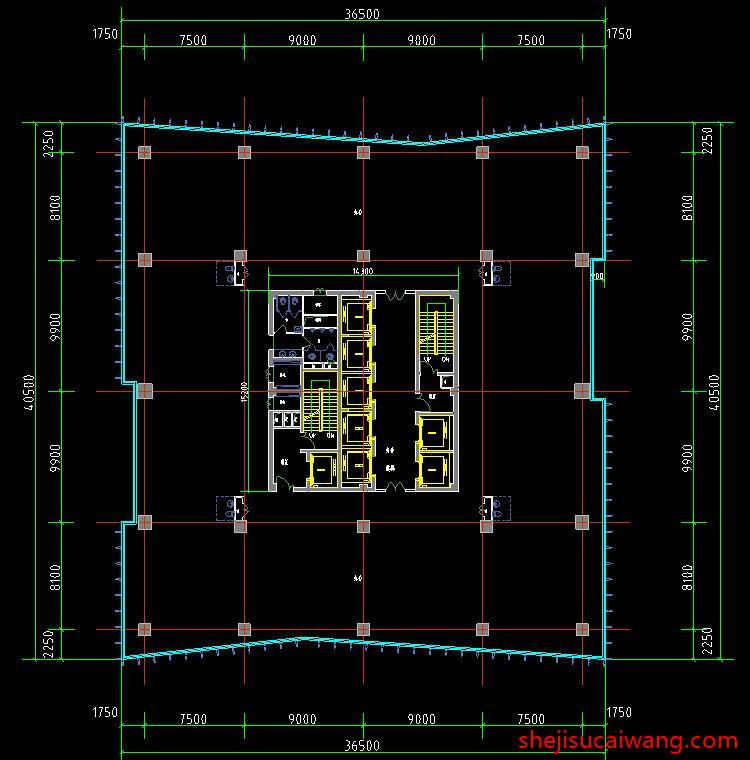 商务办公楼写字楼CAD3