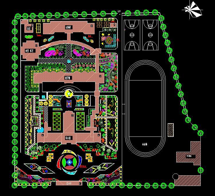 学校校园景观CAD3