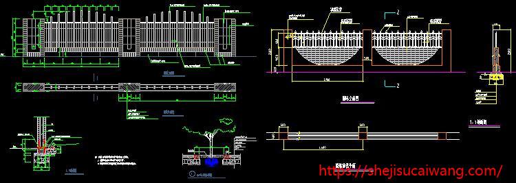 栏杆围墙扶手护栏CAD图纸1