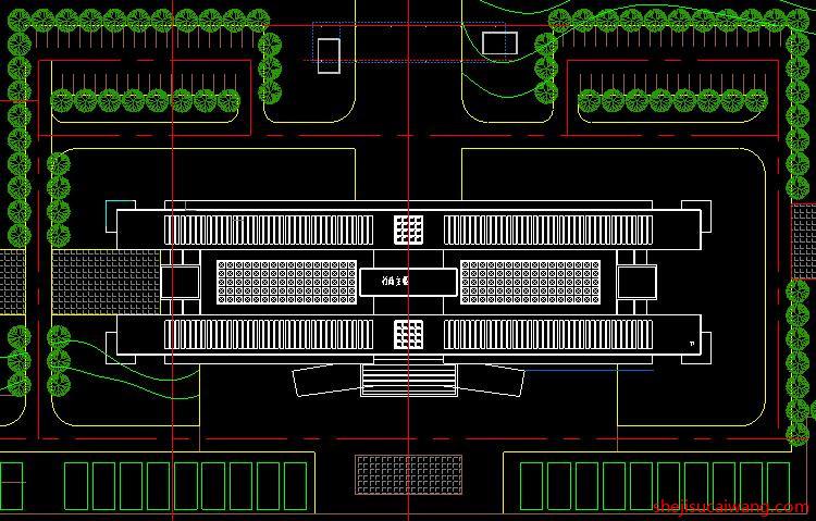 行政楼政务中心办公楼CAD2