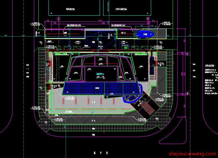 超高层办公写字楼CAD3