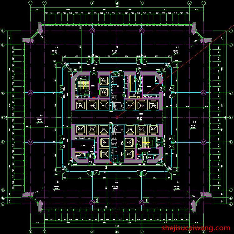 超高层办公写字楼CAD4