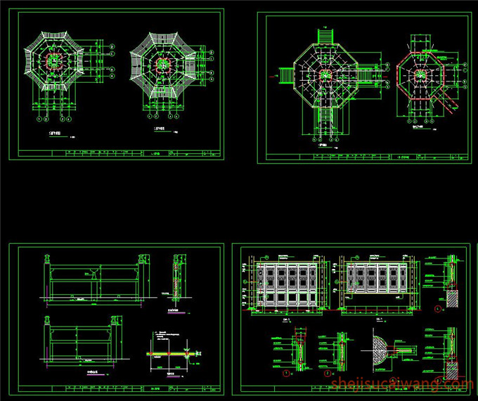 古代建筑CAD施工图4