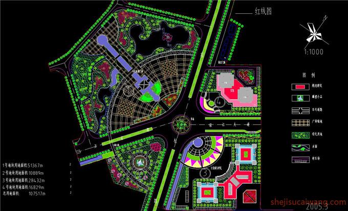 广场景观CAD图纸3