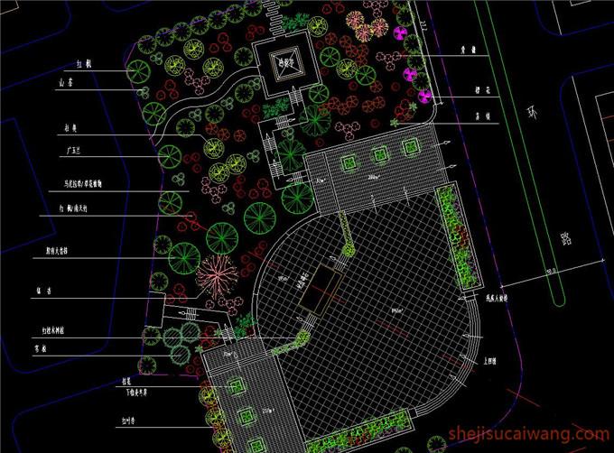 广场景观CAD图纸5