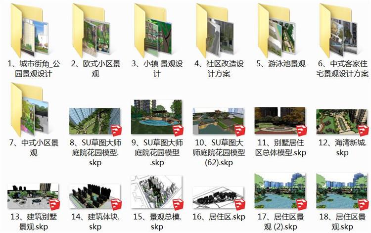 02小区景观SU模型2